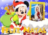 Feliz Natal do Mickey Mouse Moldura