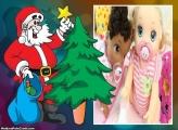 Papai Noel e a Estrela da Árvore de Natal