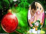 Boneco de Natal Feliz FotoMoldura