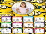 Calendário Minions 2019 Moldura