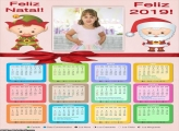 Calendário Feliz Natal e Feliz 2019