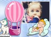 Balão Bebê Moldura