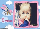 Minnie Baby 5 Meses Moldura