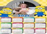 Calendário Moldura Minions 2021