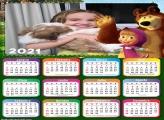 Calendário Masha e o Urso 2021