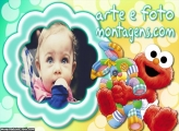 Vila Sésamo Elmo Baby Moldura