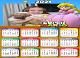 Calendário Princesa Super Mario 2021