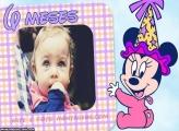 Minnie 6 Meses Moldura