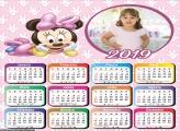 Calendário Baby Minnie 2019