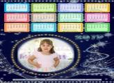 Calendário Luzes Azuis Natal 2019