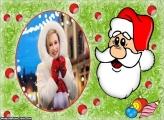 Rosto Desenho do Papai Noel Moldura