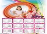 Calendário Flores 2019 Moldura