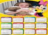 Calendário Minnie de Amarelo 2021