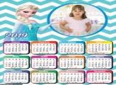 Calendário Princesa Elsa 2019 Moldura