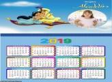 Calendário Aladdin e Jasmine Tapete 2019