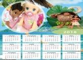 Calendário Desenho da Moana 2018