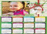 Calendário Rosto do Papai Noel 2020