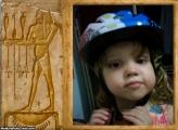 FotoMoldura Egípcio Na Pedra