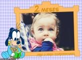 Pateta Baby 2 Meses Moldura