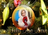 Feliz Natal e Feliz Ano Novo Foto Moldura