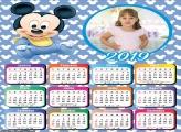 Calendário Baby Mickey 2019