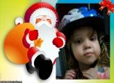 FotoMoldura Papai Noel Com Presentes
