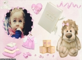Baby Menina Moldura