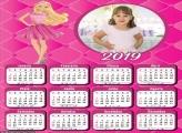 Calendário Barbie Desenho da Boneca 2019