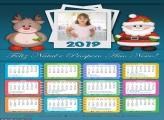 Calendário Papai Noel Cute 2019