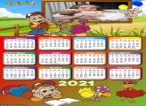 Calendário do Cocoricó 2021