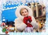 Presentes de Natal Caindo Moldura