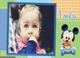 Mickey Baby 1 Mês Moldura