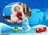 Boneco de Neve e Presente de Natal
