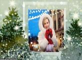 Árvore de Natal com Foto Moldura