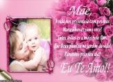Maravilhosa Mensagem das Mães Foto Montagem