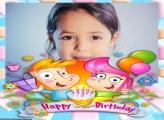 Moldura Happy Birthday Crianças