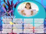 Calendário Fundo do Mar 2019 Moldura