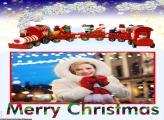 Trenzinho de Natal Moldura