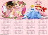 Calendário Princesas Cinderela e Ariel 2018