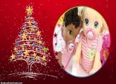 Moldura Natalina com Árvore de Natal