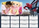 Calendário Homem Aranha 2018