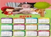 Calendário Chapeuzinho Vermelho Cute 2021