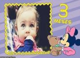 Minnie Baby 3 Meses Moldura