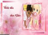 Moldura Rosa Dia das Mães