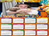 Calendário Goku Super Sayajin 2021