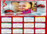 Calendário para Emoldura Natal 2020