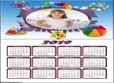 Calendário Brinquedos 2019 Moldura