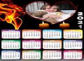 Calendário Coração e Velas 2021