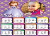Calendário Princesa Sofia 2020