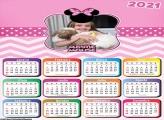 Calendário Tema Minnie 2021